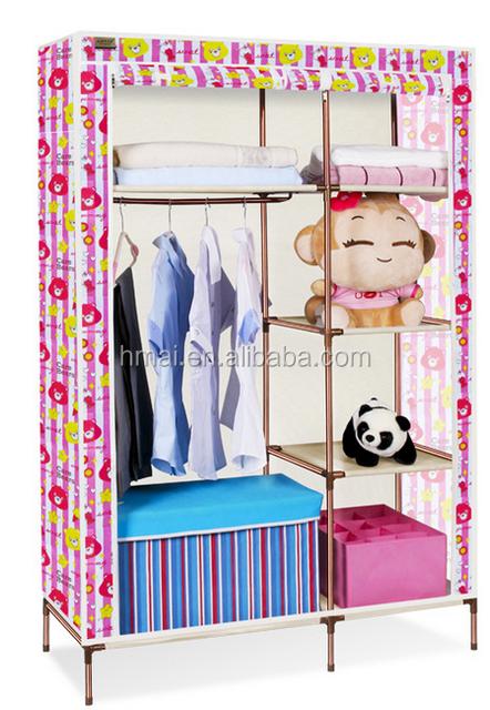 Wonderful Ortable Folding Fabric Canvas Wardrobe Clothes Closet