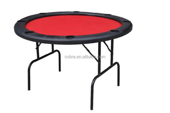 Round poker table folding chip table gambling table with for 10 person folding poker table