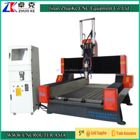 900*1500mm Heavy Duty Stone Carving CNC Router Machine Air Cylinder for Z-axis 5.5Kw Spindle NCStudio Control 4 Axis ZK-9015