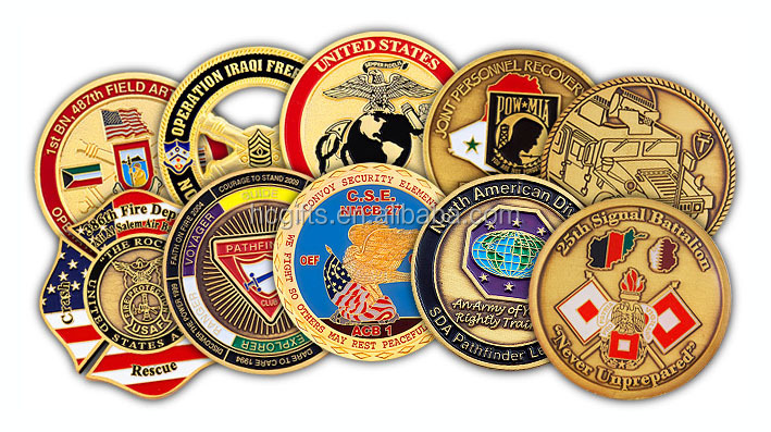 Promotional high quality custom copper metal challenge coin