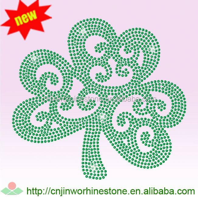 2017 new & hot good quantity 2017 hot sale falcon rhinestone transfer standard size Saint Patrick's Day 57