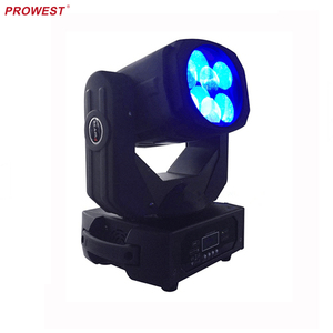 mini DJ and mobile club install DMX 512 4*25W beam Led moving head light with RGB color wheel