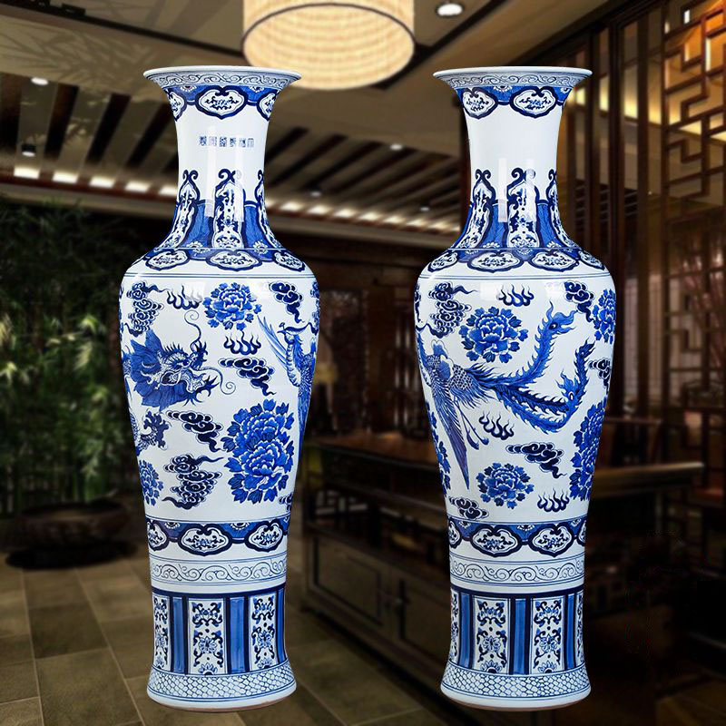 New arrival Chinese antique home and hotel decorative classical ceramic large tall floor vases