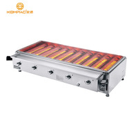 Professional Stainless Steel Gas Barbecue BBQ Grill For Party