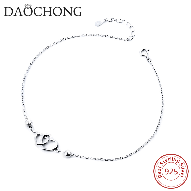 cheaper wholesale 925 sterling silver anklet feet for women