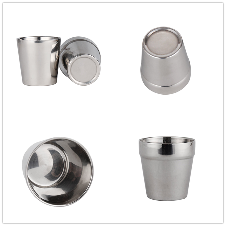 stainless steel double wall cup stainless steel pint cup glass