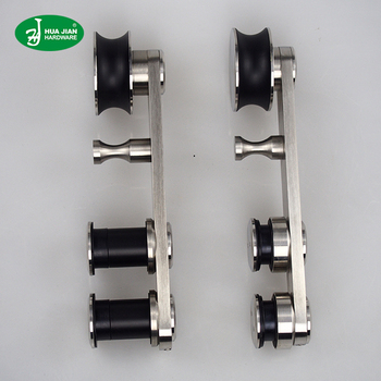 stainless steel sliding door track pulley customized