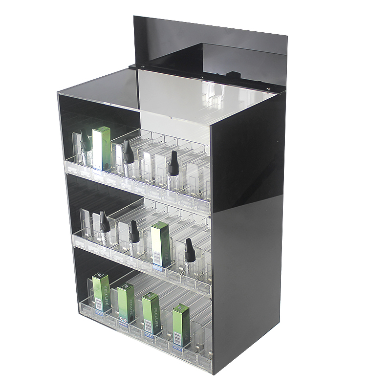 Manufacturer Customize <strong>Retail</strong> Stand 10ml 30ml E-liquid Tray Clear Acrylic Liquor Bottle Display with Pusher