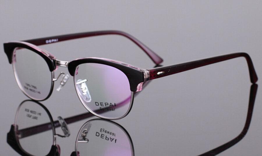 Memoria flex marcos de las lentes del mitad borde moda venta al por ...