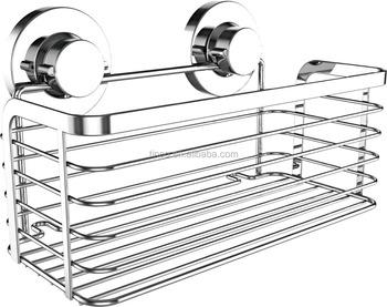 Tinco Super Strong Suction Cup Shampoo Shower Gel Rectangular Basket Bathroom Accessories Bath Room Ideas