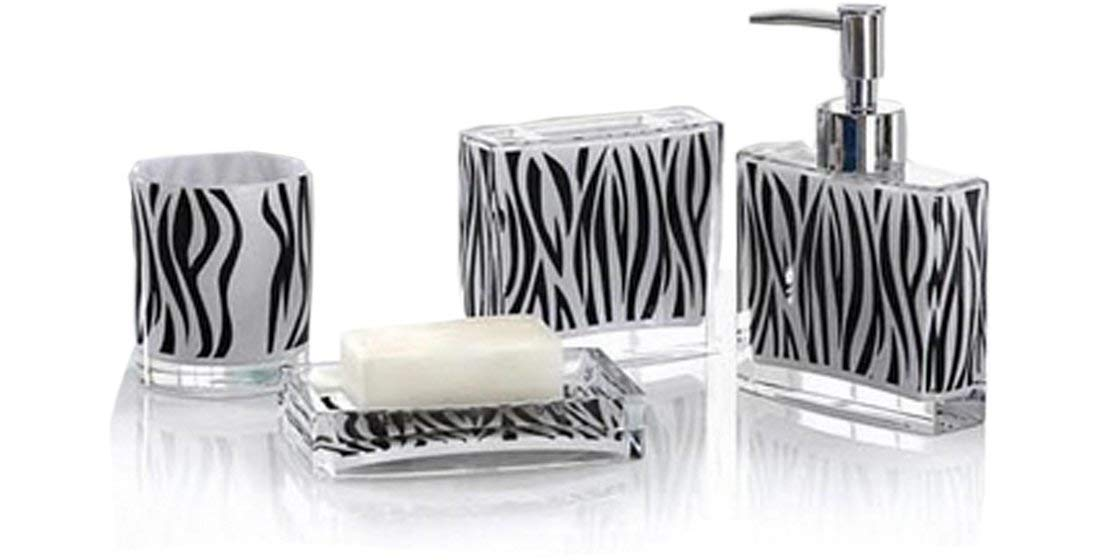 Zebra Print Bathroom Accessories Sets