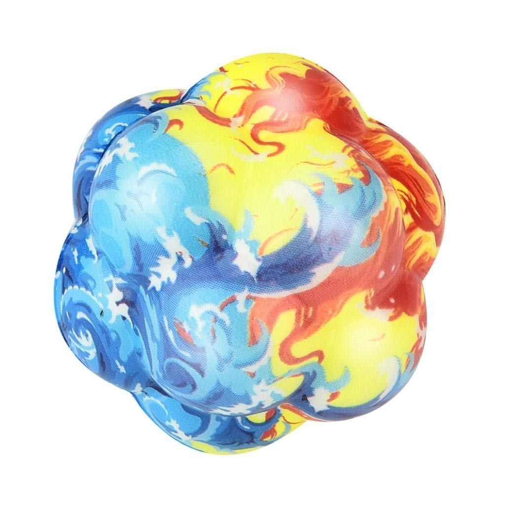 Drfoytg Clearance,Stress Reliever Toys Fun Squishy Toy Fire Ball Decompression Slow Rising Squeeze Irregular Sphere (B)