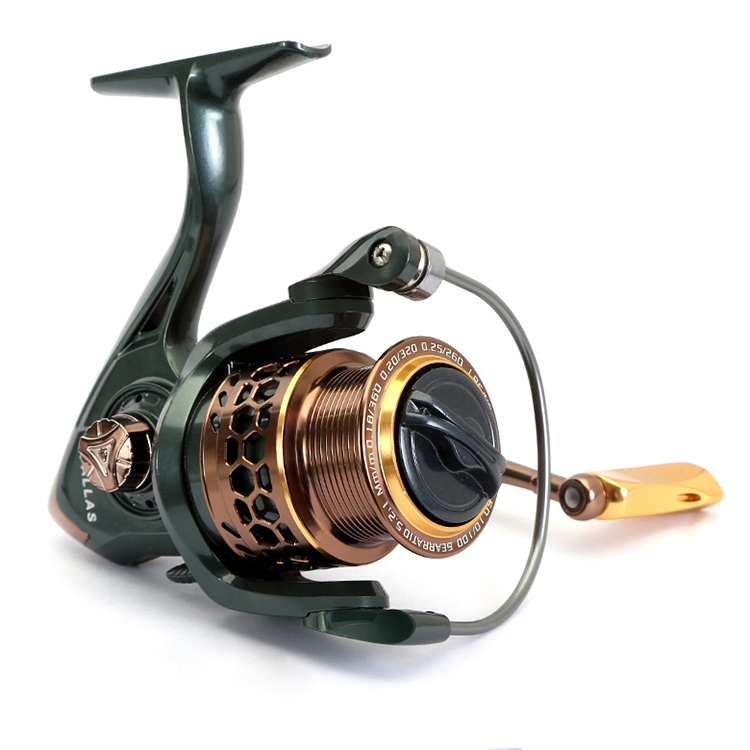 CEMREO Light Metal Spool Spinning Fishing Reel with Best Price, Blue