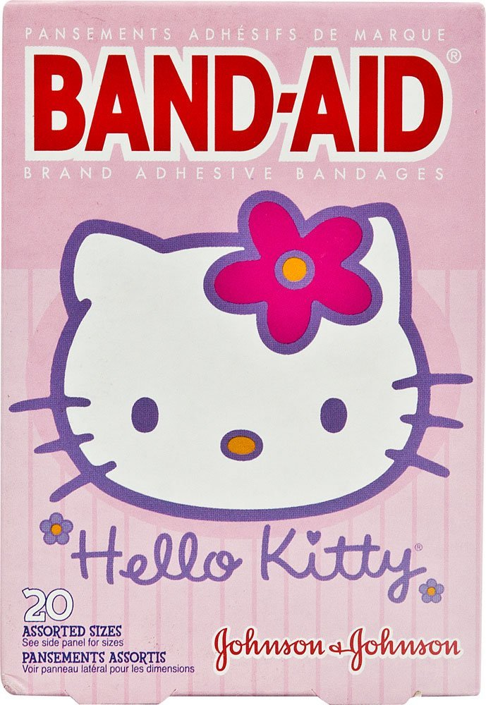 B-A Hello Kitty Asst Size 20Ct Band-Aid Hello Kitty Adhesive Bandages