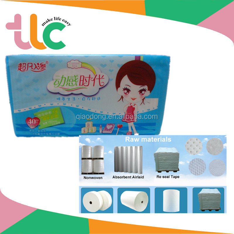 TLC Cheap Comfortable Sanitary Napkin & Panty Liner with Great Quality