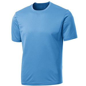 Mens custom design hot sale fitness 100% polyester breathable quick dry sport t shirt