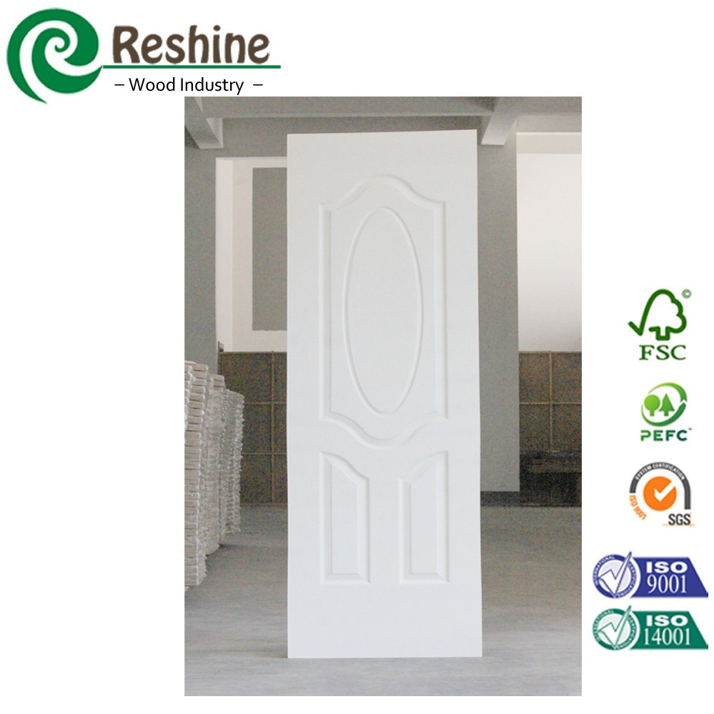 White primer molded mdf panel wood door price