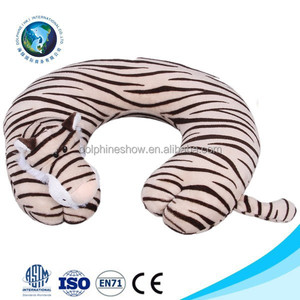 Top selling cheap cute animal airline pillow u cushion promotional stuffed plush neck pillow