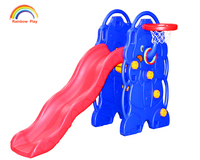 factory directly supply plastic elephant indoor slide for children