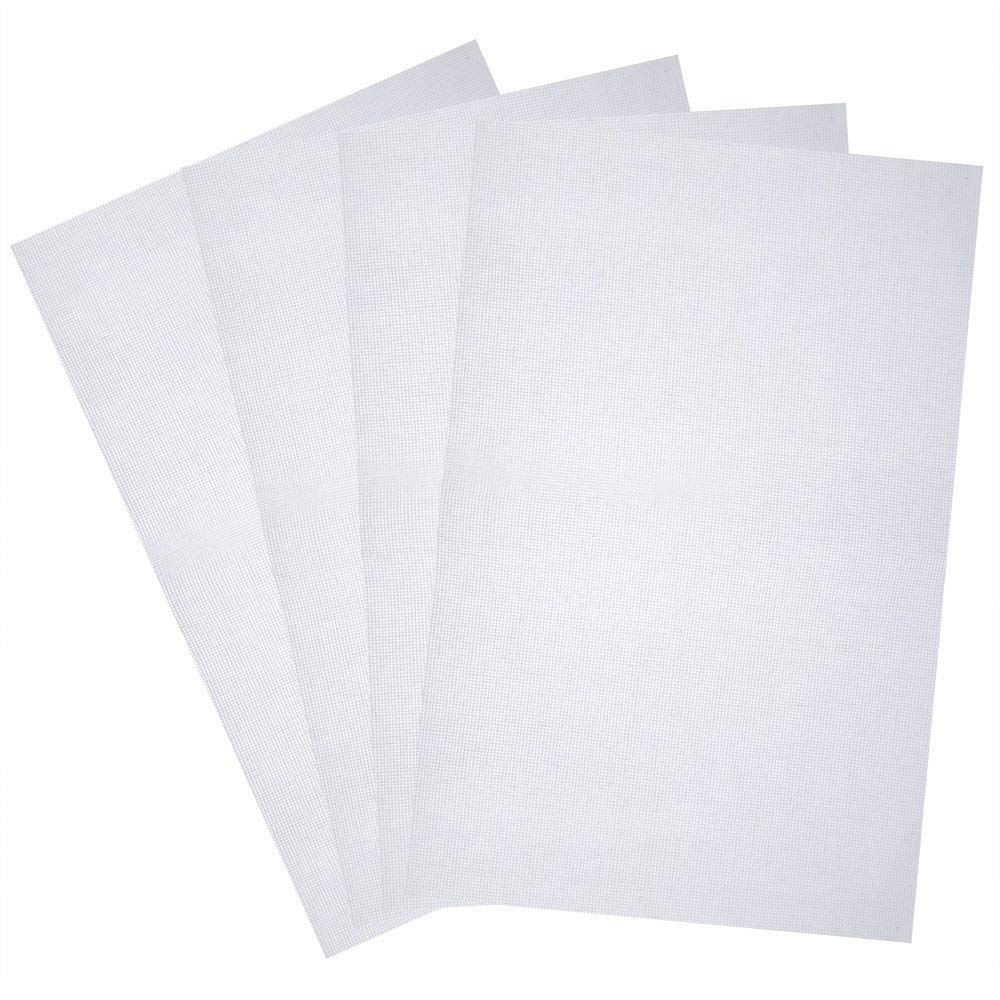 14 Count 12-Inch by 18-Inch Zicome 5 Pieces Aida Cloth Cross Stitch Fabric White
