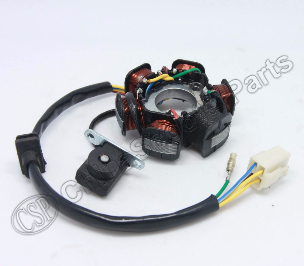 aliexpress.com : buy magneto stator 6 pole coil 5 wire ... kazuma wiring diagram 110cc
