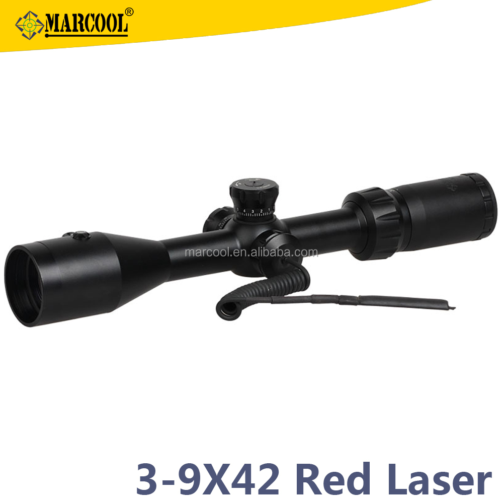 3-9x42 optical rifle scope Marcool Optics sight riflescope for outdoor sports hunting equipment for ar 15 ak guns and weapons
