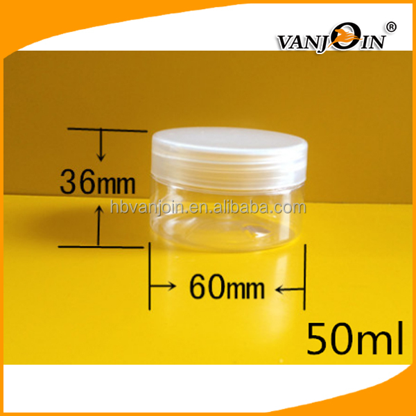 Wholesale Aluminium Cap PET Round Candy Bottle Cream Jar Plastic With Lined Screw Caps