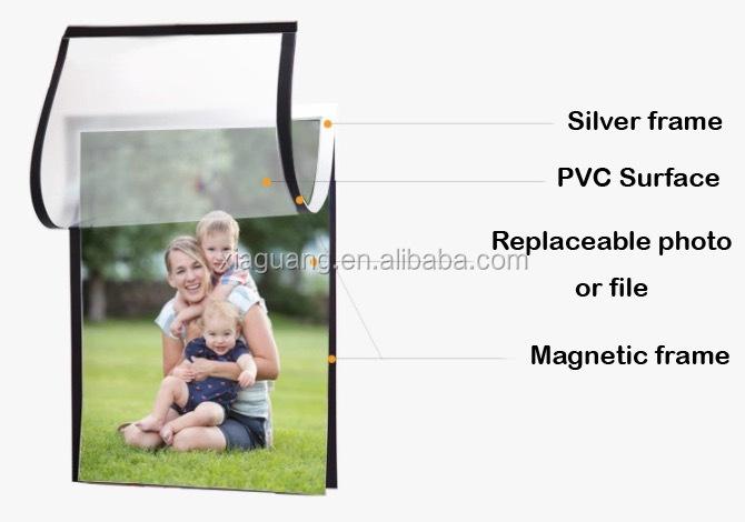 A buon mercato A3 A4 A5 Autoadesivo del Pvc Foto Magnetico Cornice Certificato Display Photo Frame
