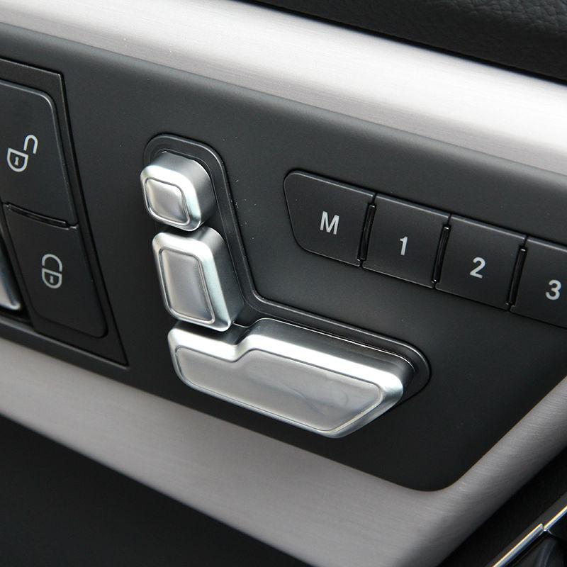 6pcs Chrome Seat Adjust Button Cover Trim For Mercedes Benz W246 W212 W146 X204 X156 B
