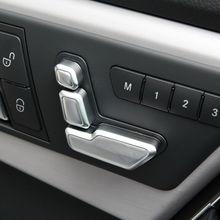6pcs Chrome Seat Adjust Button Cover Trim For Mercedes Benz W246 W212 W146 X204 X156 B E CLS GLA GLK ML Class Accessories