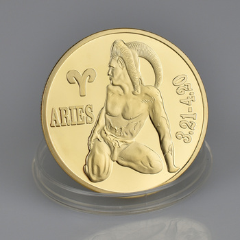 999 Gold Plated 12 Constellation Aries Challenge Coin For Birthday Gift -  Buy Aries Coin,Aries Gold Coin,Aries Coin Gold Plated Product on Alibaba com