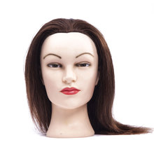 professional hairstyle practice manikin head with 100 human hair