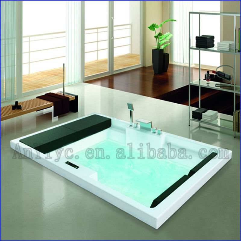 bianco acrilico goccia angolo vasca freestanding vasca da bagno, Disegni interni