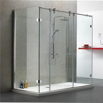 sliding cheap price frameless clear glass shower door bathroom shower