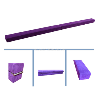 Folding Gymnastic Beam In Suede Cover Hot Purple Actual