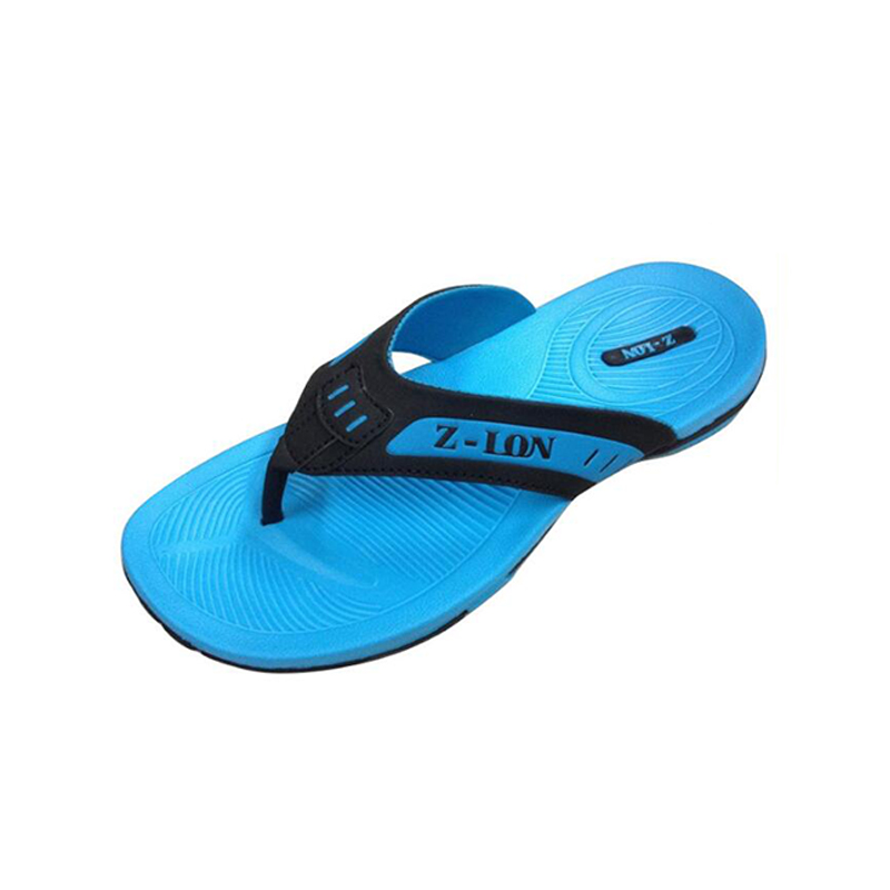 China zhenlong shoes factory high quality Men's slippers make your own flip flops