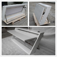 Modern space saving furntiure high glossy foldable computer desk