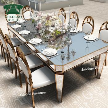 Wedding Decoration Stainless Steel Mirror Glass Dining Table Buy Mirror Glass Dining Table Stainless Steel Dining Table Stainless Steel Dining Table