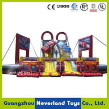 NEVERLAND TOYS Cars Inflatable Slide Inflatable Fun City Giant Inflatable Kids Playground for Sale