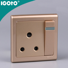 home automation kit usb wall socket 15A British Standard Golden Wall Switch 1gang 15A wall switch 15A
