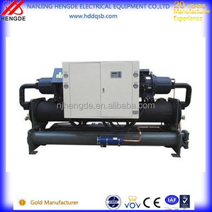 cooling screw chiller unit, water screw chiller for laminating machine