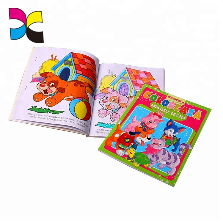 China factory printing handmade kids painting children drawing book