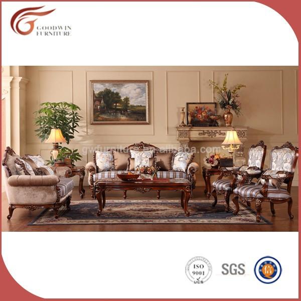 Charming Heißer Verkauf Wohnzimmer Holzschnitzerei Sofa Möbel Gas005