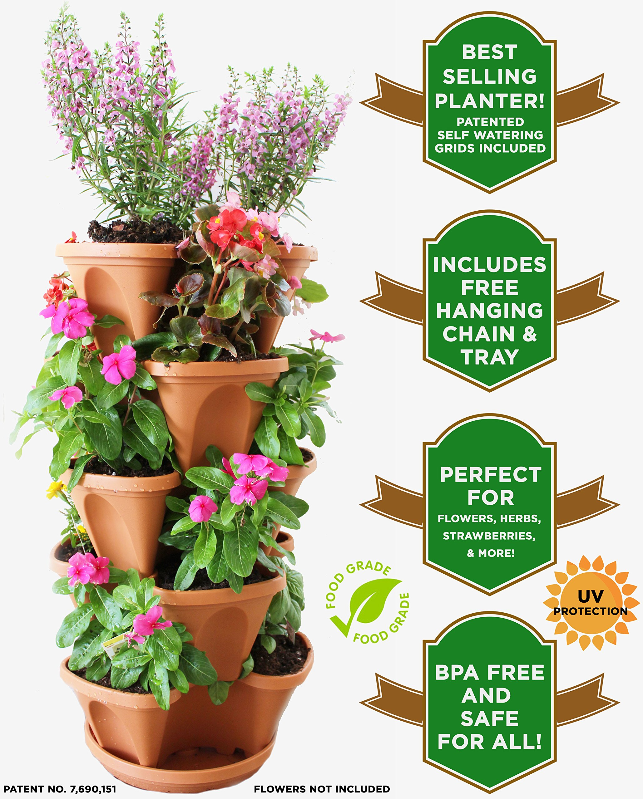 Cheap concrete planters find concrete planters deals on line at get quotations natures distributing stacking planters 5 tier with patented flow grid system izmirmasajfo