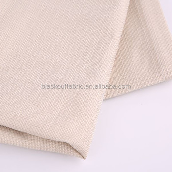 Linen look 4 Pass Blackout Fabric in FR NFPA701