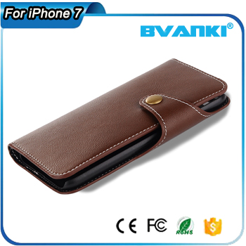Wholesale promational durable magnetic wallet shockproof phone shell for iphone 7 for iphone 7 plus