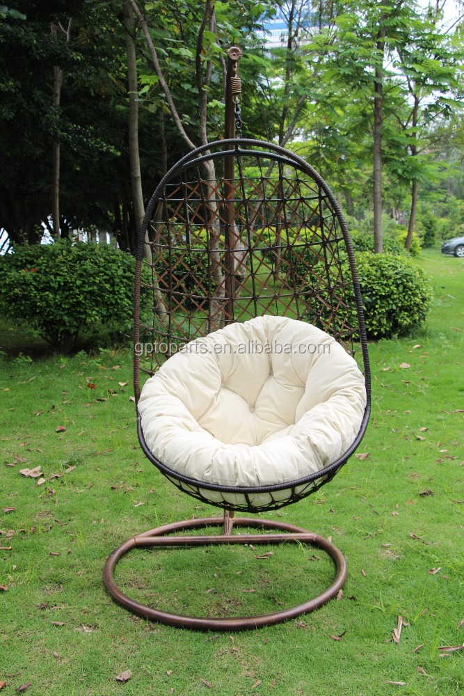 Hot Sale Round Swing Chair Hanging Chair With Cushion For 1 Person Hanging  Garden Rocking Chair   Buy Hanging Chair,Swing Chair,Outdoor Furniture  Product On ...