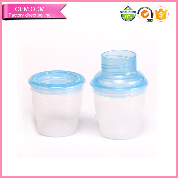 new design multifunctional plastic breastmilk storage solution for baby feeding