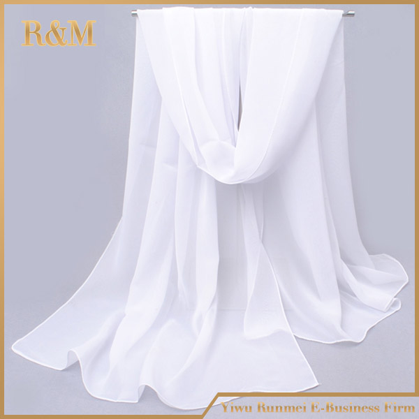 2017 best quality hot sales white silk scarves for dyeing