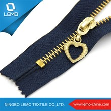 lemo No.3 Garment Gold Metal Zipper with New Design